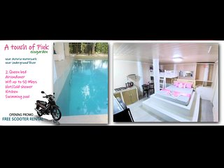 Studio apartment with scooter near Water Park w/ free airport transfer