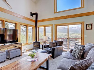 Enjoy Seclusion and Stunning Views from this Bright North Breckenridge Home