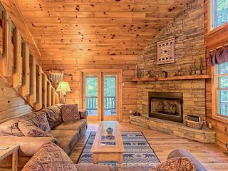 NEW LISTING! Mountain cabin w/private hot tub, firepit, decks & woodland views