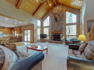 NEW LISTING! Waterfront living near Estes Park w/ a furnished deck & river view