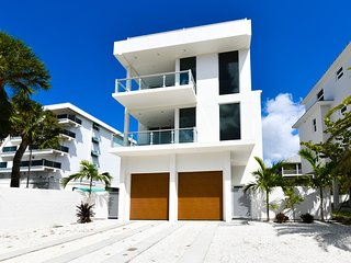 Brand new with rooftop terrace. Directly across from Siesta Beach! 641 Beach Rd