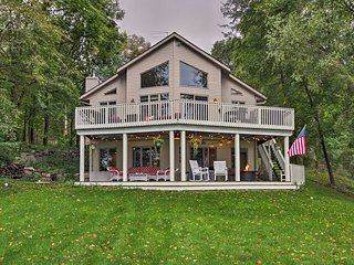South Haven Lake House w/Deck, Views & Boat Dock!
