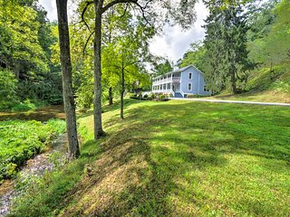 NEW! Historic House By Creek - 30 Min to Asheville
