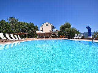 Fabulous modern Italian style beach villa with swimming pool, garden and parking
