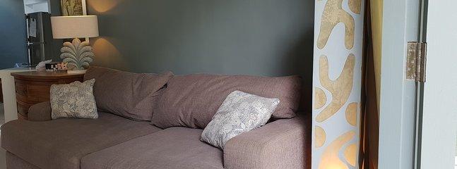 Comfortable sofa, AC,TV corner, optical fiber, WIFI, DVD player, music speaker, opened to the garden