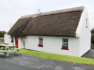 NO 9 RENVYLE THATCHED COTTAGES, pubs and shops 50 yards, in Tullycross