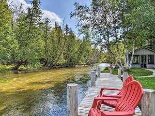 Riverfront Traverse City Cabin w/Kayaks & Fire Pit