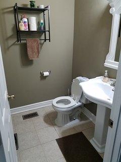 Half bathroom on first floor