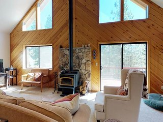 NEW LISTING! Dog-friendly forest cabin w/ fireplace, deck, grill, & shared pool