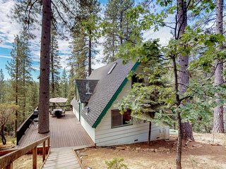 NEW LISTING! Charming dog-friendly A-Frame with shared pool and free WiFi