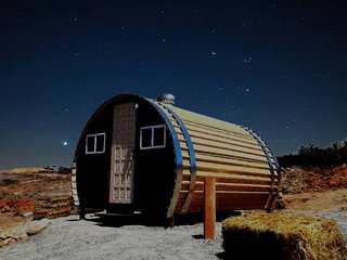Sleep inside of a wine barrel and under the stars!