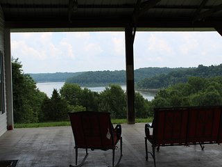 View of the lake from the resort office