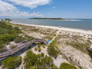 NEW LISTING! Dog-friendly beachfront home w/private boardwalk, screened-in porch