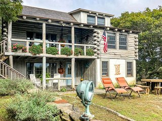 Rustic, waterfront home w/ decks, private lake & ocean views - 1/4 mile to beach
