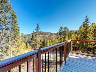 NEW LISTING! Hand-crafted mountain loft w/great view & large deck -near town