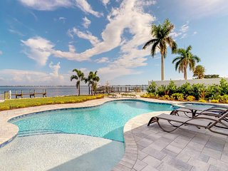 NEW LISTING! Bayfront & dog-friendly home w/private pool & spa, boat dock,