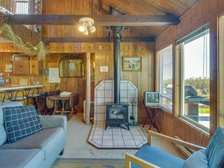 NEW LISTING! Cozy and oceanfront dog-friendly cabin on the beach with views!