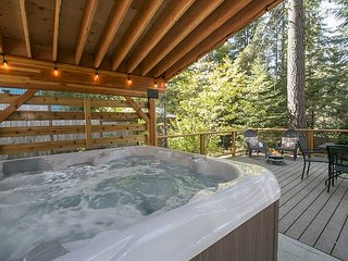 Cozy Pan Abode Cabin: Free  Wi-Fi, Hot Tub, Dog Friendly near Lake Wenatchee
