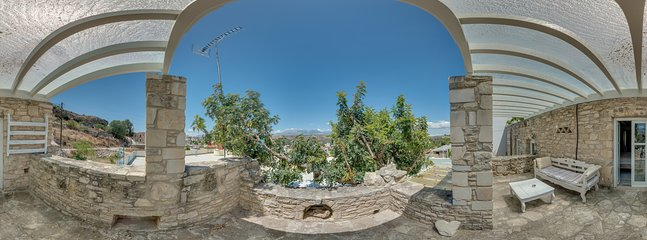 360° Photo,upper terrace with view to the mountain  psiloritis