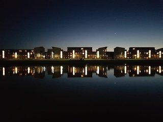 Waterside at night