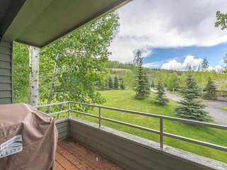 NEW LISTING! Renovated condo w/deck, mountain view, fireplace & gorgeous kitchen