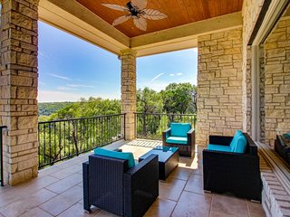 NEW LISTING! Hilltop home w/Lake Travis view, decks & shared pool/beach club