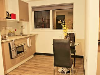 Stylish studio apartment with free gym and cinema. (Apartment 452)
