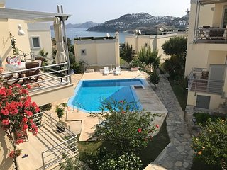 View of 2nd swimming pool and sea from our house