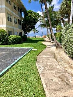 walkway up to the beach