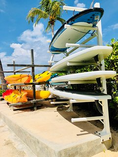 paddle boards and kayaks