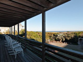Classic oceanfront duplex on the quiet south end