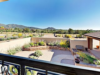 Hilltop European-style 2BR w/ Lavish Furnishings & Incredible Desert Views