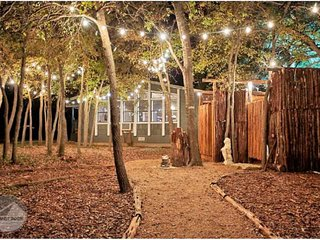 Glamping (Glamour-Camping) In ATX! Grills, Fire Pits, Games Galore (& Yes, Showe