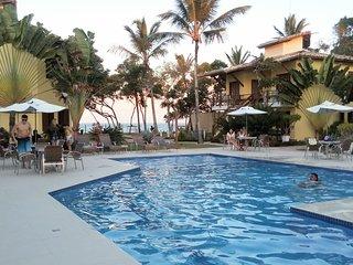 Chalet 2-4 p. Beach 50 m /Cond air./tropic. garden
