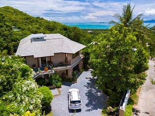Private lux villa / koh phan gan view , bophut Hill ,  pnoramic seaview