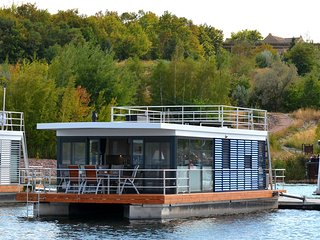 Hausboot Treibholz, Mücheln Geiseltalsee; Leipziger Seenlandschaft