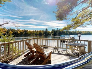 Luxury lakefront home w/ decks, dock, beach access, rec room, firepit & more!