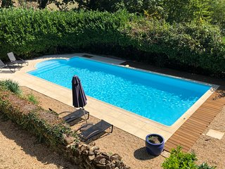 Pool - Newly updated for 2018 with a new liner, terrace stones, decking and a new heater.