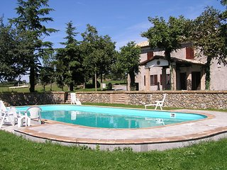 Villa with private pool near Civita di Bagnoregio and Bolsena Lake.