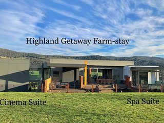 Highland Getaway Luxury Farm Stay Spa suite and ATV farm tour