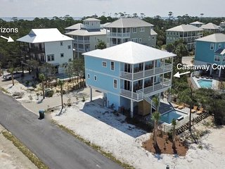 Gulf Views! Two homes side by side!  8 Bedrooms! 2 Private Pools, WiFi and more!