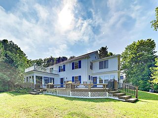 Updated 5BR Colonial w/ Sunroom & Water-View Deck, Near Camden Harbor