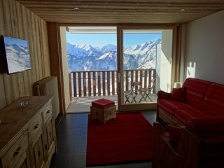 Spacious apartment with terrace and splendid view (sleeps 5) - L'Alpe d'Huez