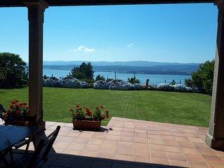 Casa dos Ballotes II,impresionantes vistas al mar en Rianxo,wifi,jardín, barbaco