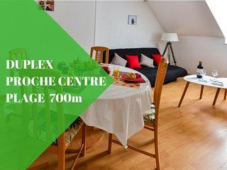 Duplex du Pollet, 500 mètres centre Dieppe, 700 mètres plage