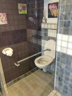 Détail de la décoration dans la salle de bain / wc.