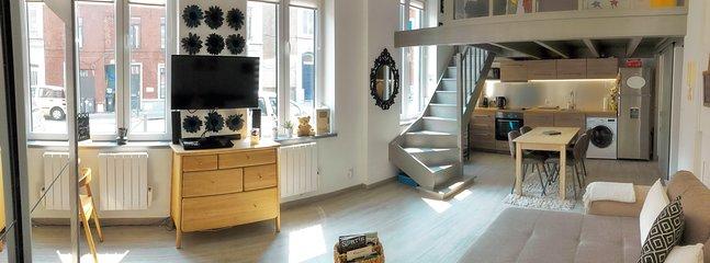 Panorama de ce lumineux et confortable appartement dans lequel vous séjournez.