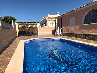 4 bedroom with sunny south facing private pool