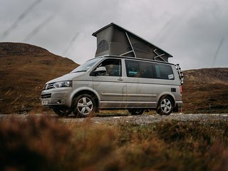 Brave Camper Hire. VW California Campervan Hire Scotland
