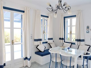 Ritas blue naxian dreams, Villa with two floors surrounded with garden.